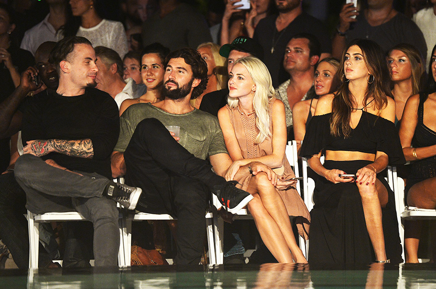 MIAMI BEACH, FL - JULY 16: Brody Jenner and Kaitlynn Carter attend the INDAH Clothing Presents Casa INDAH at SwimMiami - Front Row at W South Beach on July 16, 2016 in Miami Beach, Florida. (Photo by Gustavo Caballero/Getty Images for INDAH)